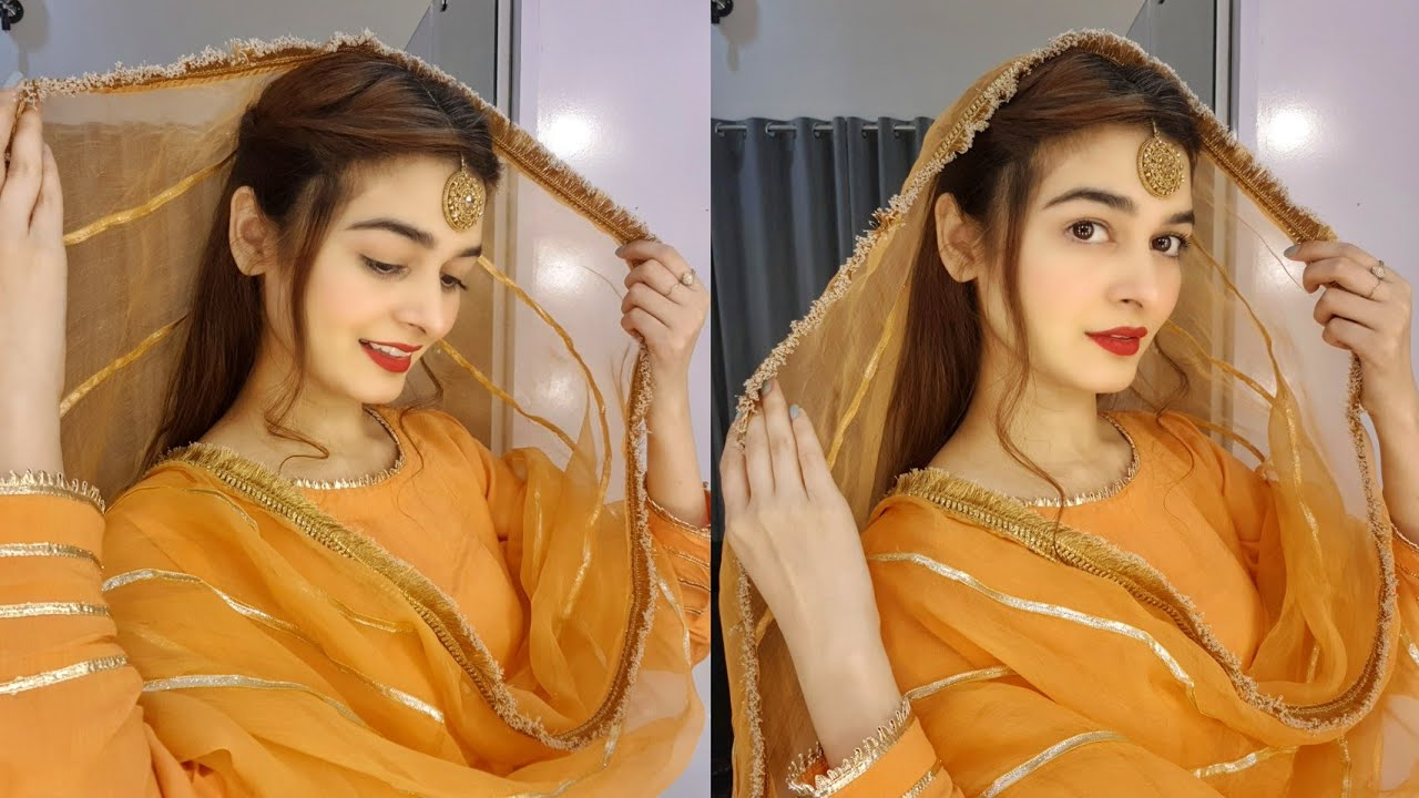 Hairstyle For Mehndi Mayon Function Simple Hairstyle Tutorial Youtube