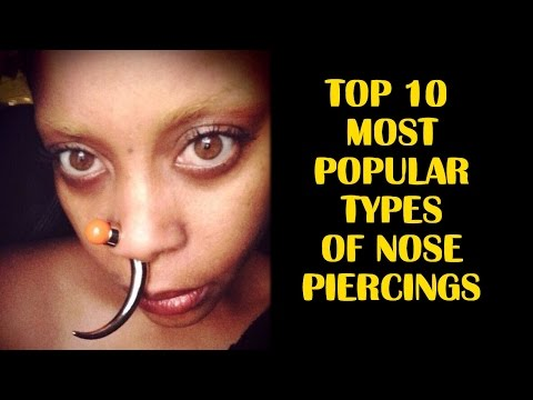 Top 10 Most Popular Types Of Nose Piercings Youtube