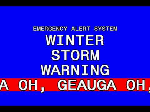 Triple Winter Storm Warning: Cleveland, OH (1/4/14)