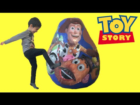 Disney Toy Story Surprise Egg Unboxing Opening Buzz Lightyear Woody Jessie Mr Potato Head Toys fragman