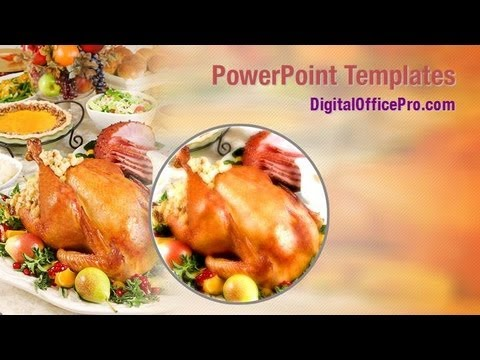 Thanksgiving Dinner PowerPoint Template Backgrounds