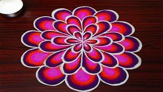 Simple Rangoli Designs With 5x3 Dots || Beautiful Kolam Designs || Latest Muggulu Designs