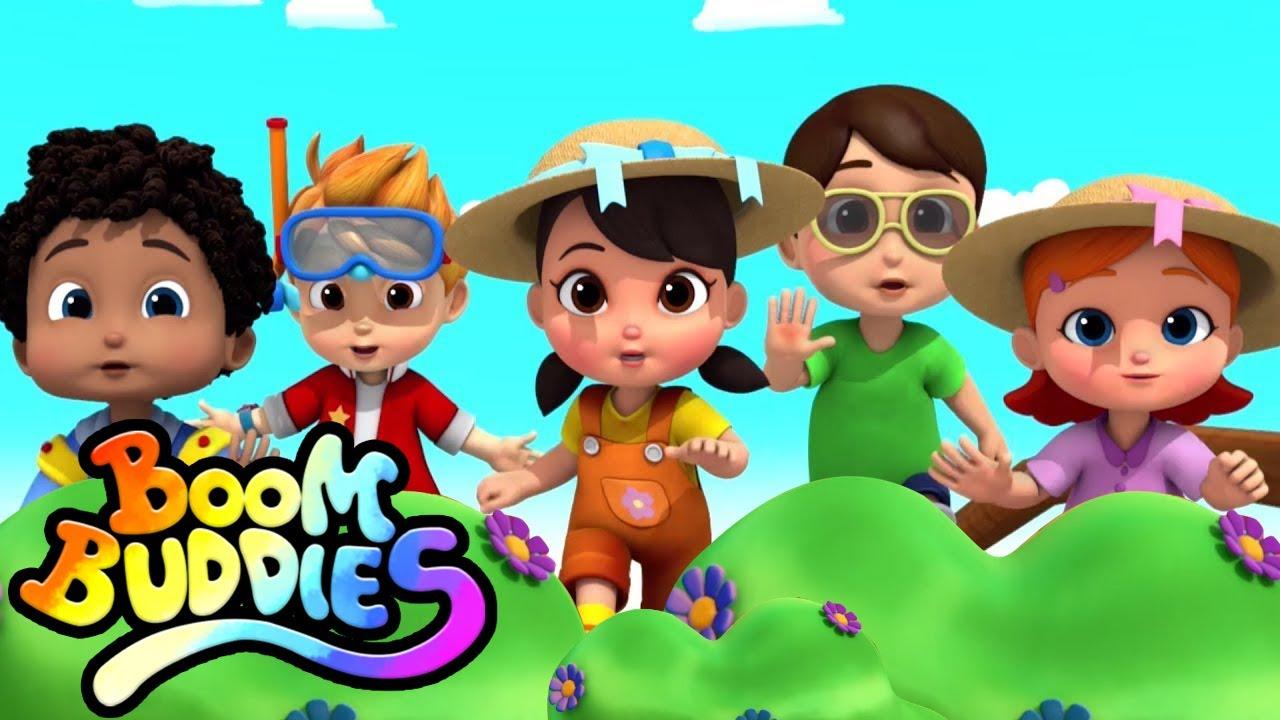Canción dedo familia | Rimas para niños | Educación | Boom Buddies Español | Dibujos animados