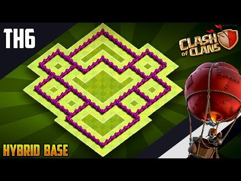 New Epic TH6 HYBRID/TROPHY Base 2019!! COC Town Hall 6 (TH6) Hybrid Base Design - Clash Of Clans