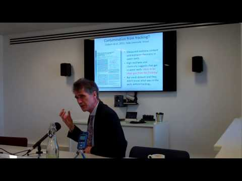 Mike Stephenson on Shale Gas and Fracking:The Science behind the Controversy.
