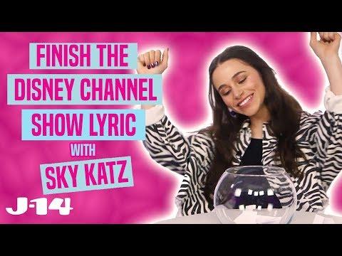 Raven's Home Star Sky Katz Raps Disney Channel Theme Songs | Finish The Lyric