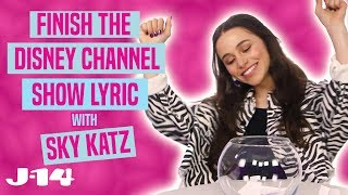Download Raven's Home Star Sky Katz Raps Disney Channel Theme Songs | Finish The Lyric Mp3 and Videos