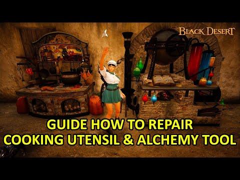 How to Repair Cooking Utensil & Alchemy Tools Guide (Black Desert Online)