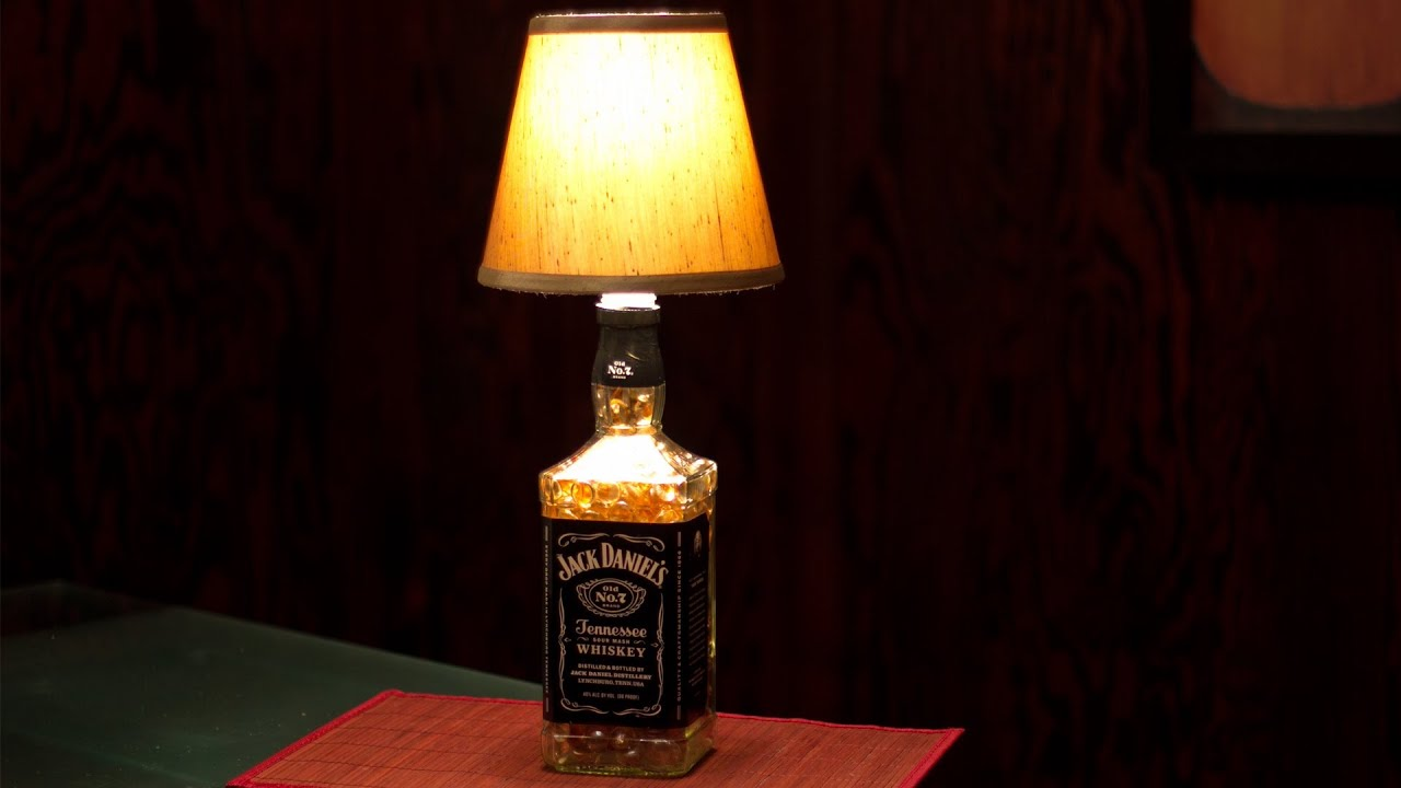 Glass Jar Lamp Shade How To Make A Bottle Lamp Youtube