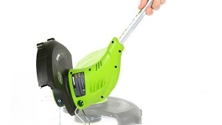 GreenWorks 5.5 Amp Weed Wacker in action & review! =B.E.A.=