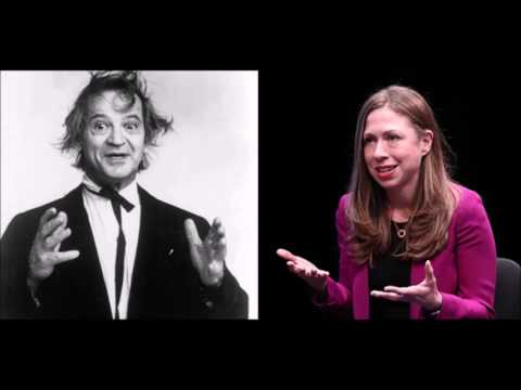 """Chelsea Clinton links climate change/child marriage, seeming like old comedian """"Prof."""" Irwin Corey"""