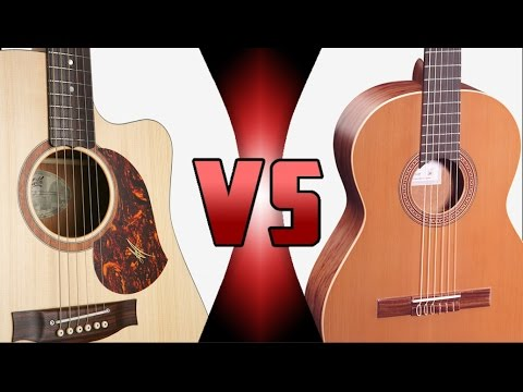 Cuerdas de Nylon vs Cuerdas de Acero   ¿Cuál es Mejor? - Comparación Guitarra (HD)