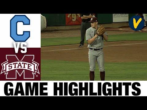 #4 Mississippi State vs The Citadel | 2021 College Baseball Highlights