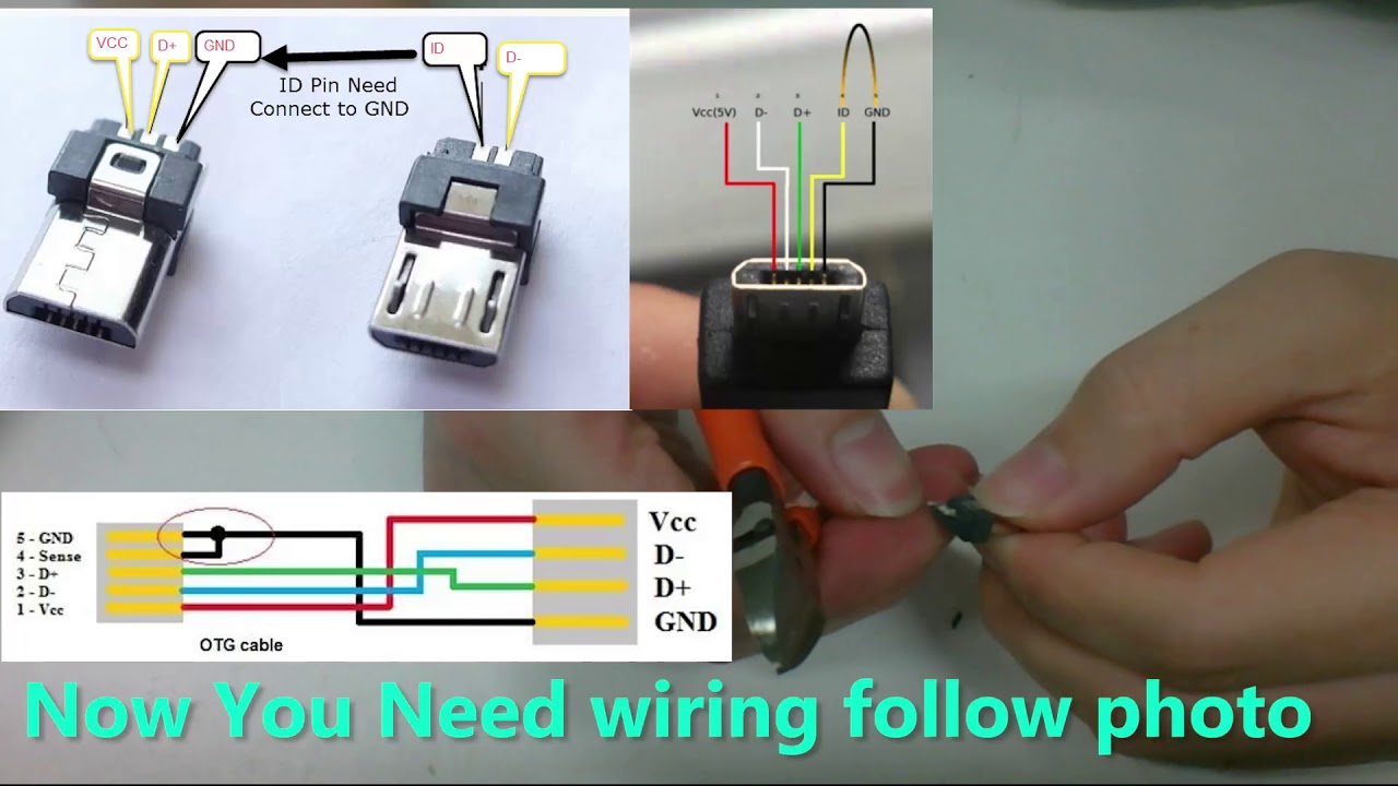 Diy Usb Otg Micro To Mini For Audio Dac Youtube 3 Pin Wiring Diagram