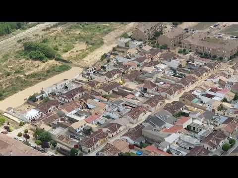 Imágenes aéreas de la riada en Olite