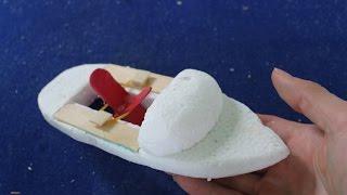 Как сделать простой лодку   резинкой питание лодка