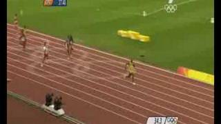 Beijing 2008: JAMAICA 4x100m FINAL FULL COMPETITION
