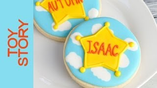 Simple Toy Story Cookies, Sheriff Badge