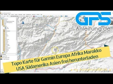 Topo Karte für Garmin Europa Afrika Marokko USA Südamerika ...