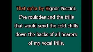 Art is calling for me (Primadonna Song) Karaoke Accompaniment