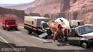 BeamNG Drive Rock Slides #5 - Insanegaz