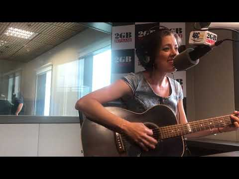 Country music star Amber Lawrence performs  in the 2GB studios