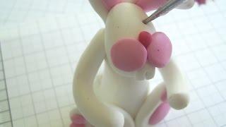 Как сделать зайца. Из полимерной глины