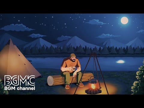 Relaxing Music & Campfire with Nature Sounds - Easy Listening Guitar Music for Stress Relief