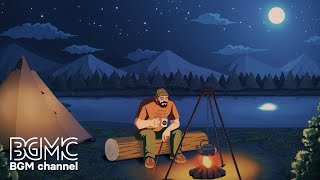 Relaxing Music \u0026 Campfire with Nature Sounds - Easy Listening Guitar Music for Stress Relief