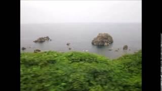 【リゾートしらかみ3号秋田ー十二湖間の日本海】