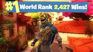 #1 Fortnite World Ranked - 2,427 Solo Wins