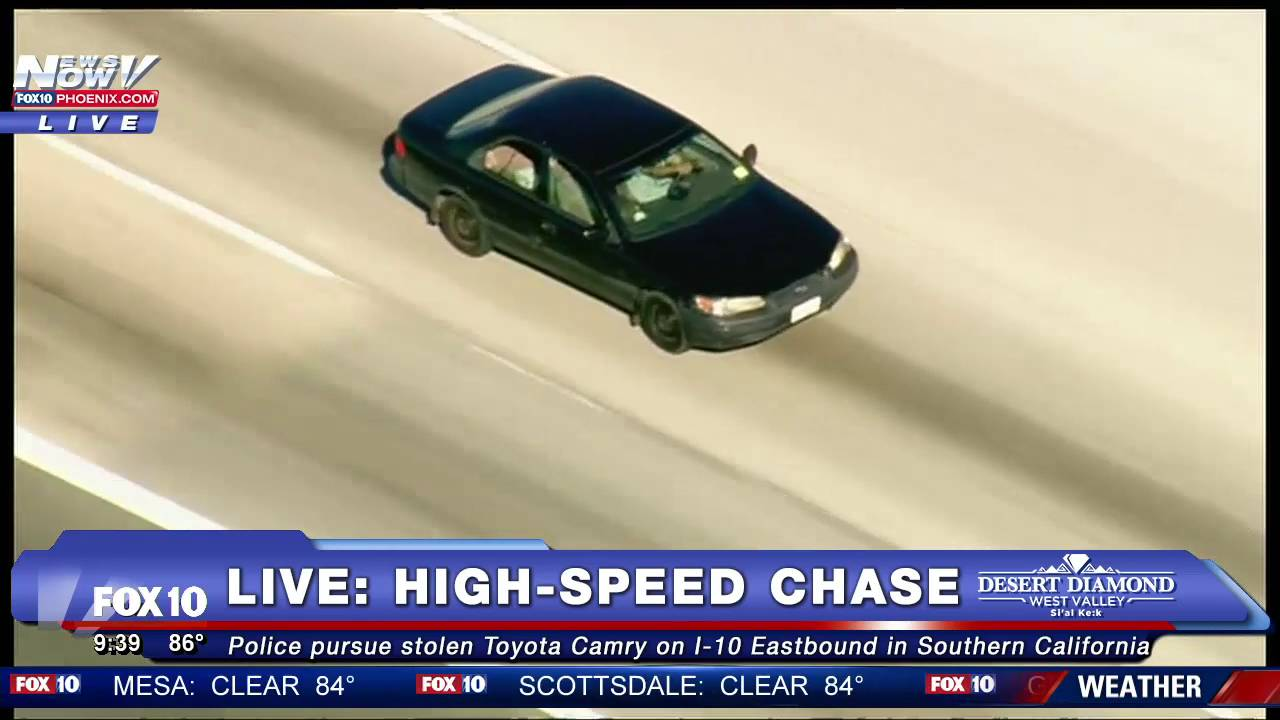 FNN: High-Speed Chase Ends With Stand Off on I-215 Freeway, Man With Stick  Vs  Cops