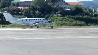 Plane taking off @ Loakan Airport,  Baguio City