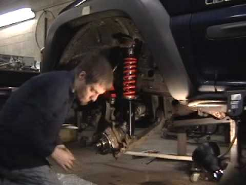 Jeep Liberty Coilover Strut Install In Less Than 5min