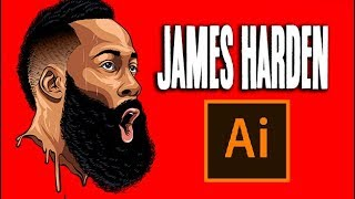 How To Make / James Harden Hair Style!- Step By Step Tutorial ( ADOBE ILLUSTRATOR )