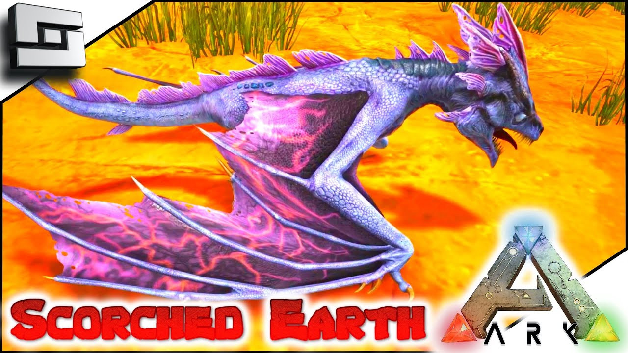 Scortched Earth Map.Ark Scorched Earth Baby Lightning Wyvern E21 Scorched Earth