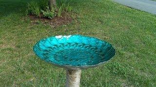 Make A Flower Bird Bath