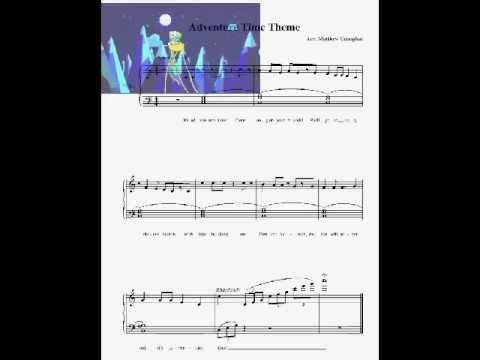 Adventure Time W Piano Sheet Music