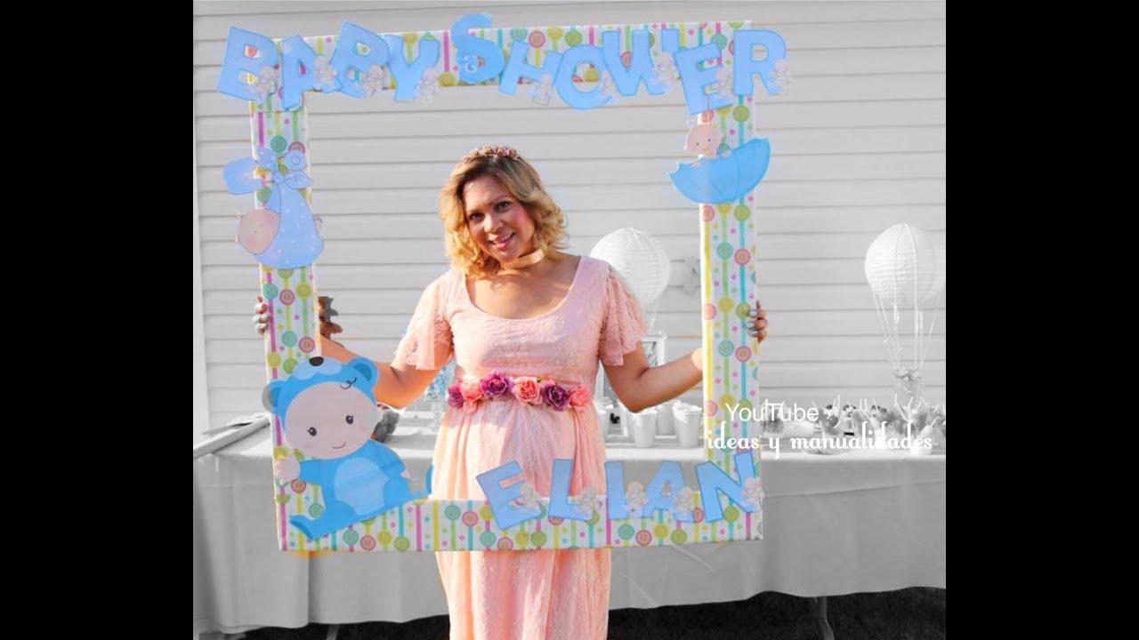 Marco de fotos para tomarse fotos en un baby Shower / ideas y ...