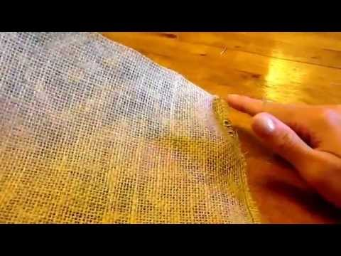 How to Make a Burlap Gift Bag