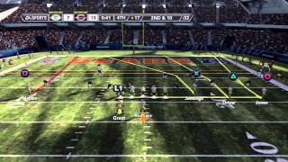 Madden NFL 12 Demo Gameplay (PS3) -  Green Bay Packers vs Chicago Bears