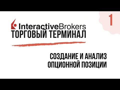 Interactive Brokers TWS: Создание и Анализ Опционной Позиции