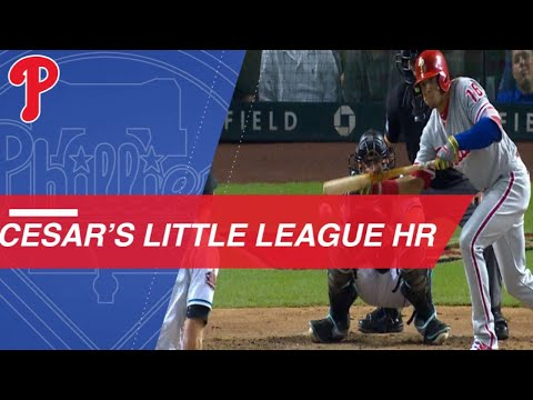 Cesar Hernandez bunts into a Little League HR