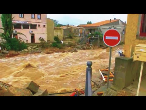 Parts of Landes flooded again as waters from the Midouze River. France flood 2021 / Disasters
