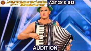 Hans Accordionist Sing Dance FUNNY and AWESOME America's Got Talent 2018 Audition AGT