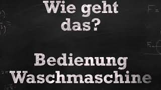 Erklärvideo - Wie geht das?   Waschmaschine im SB Waschsalon SnowBall Leipzig einfach erklärt