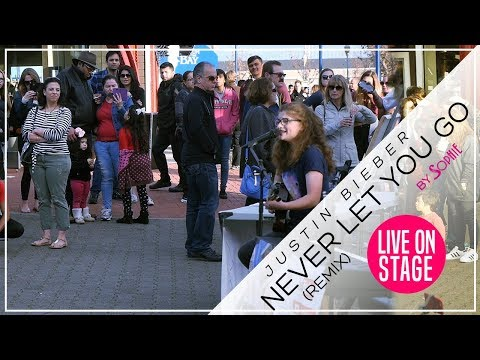 Never Let You Go - Justin Bieber Remix (Cover by Sophie Pecora) Live from Pier 39 San Francisco