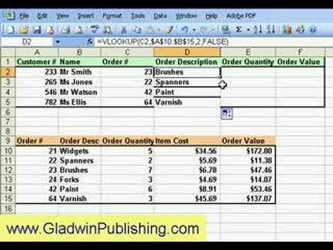 Excel Formulas Using Simple Vlookup For Invoice Youtube