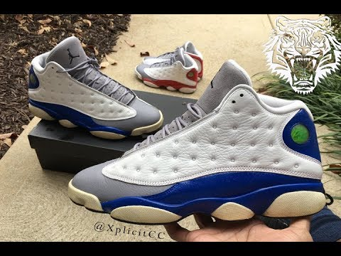 "4467c842578 Air Jordan 13s ""Blue Grey Toe"" Custom Timelapse (Must Watch) - YouTube"