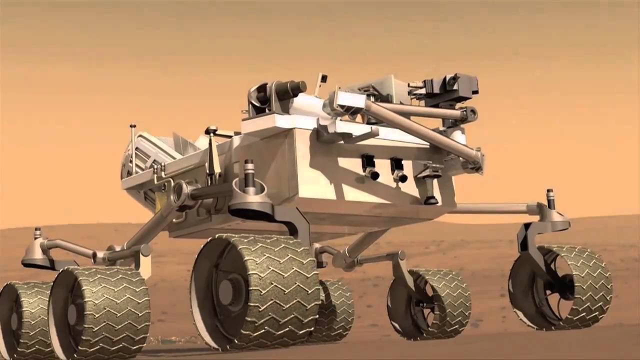 How the Curiosity Mars Rover Will Land and Navigate - YouTube